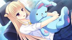 Rating: Safe Score: 16 Tags: blonde_hair bunny game_cg kanome_reina long_hair making_lovers red_eyes smee taniyama-san User: Y-Stylzz