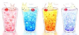 Rating: Safe Score: 44 Tags: animal autumn blue cherry daikichi_(pixiv13506351) drink food fruit orange original pink rabbit spring summer winter User: otaku_emmy