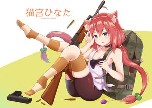 Rating: Safe Score: 41 Tags: animal_ears aqua_eyes bike_shorts catgirl choker gun hinata_channel nekomiya_hinata pink_hair shirokun0824 shorts thighhighs twintails watermark weapon zettai_ryouiki User: gnarf1975