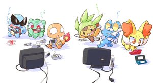Rating: Safe Score: 67 Tags: bulbasaur charmander chespin fennekin froakie game_console goggles group neon_genesis_evangelion paper pokemon sinker-ball_(nettsu) squirtle translation_request white User: ArthurS91