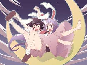 Rating: Safe Score: 37 Tags: animal_ears barefoot bunny_ears bunnygirl inaba_tewi moon reisen_udongein_inaba touhou yuuki_tatsuya User: Oyashiro-sama