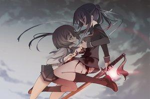 Rating: Safe Score: 99 Tags: blade_(galaxist) blood ga-rei_zero isayama_yomi sword tsuchimiya_kagura weapon User: gits_sac