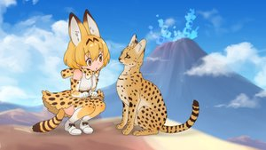 Rating: Safe Score: 30 Tags: animal animal_ears anthropomorphism cat catgirl kemono_friends serval tagme_(artist) User: MisakaImouto