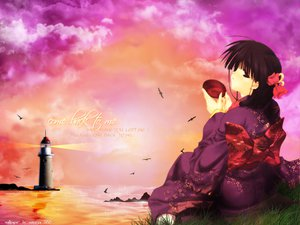Rating: Safe Score: 7 Tags: comic_party hasebe_aya japanese_clothes kimono lighthouse User: 秀悟