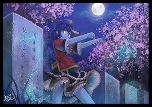Rating: Safe Score: 24 Tags: cherry_blossoms flowers hat kasodani_kyouko miyako_yoshika moon night oto_taku signed touhou User: HawthorneKitty