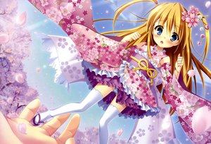 Rating: Safe Score: 92 Tags: blush dengeki_moeoh japanese_clothes lolita_fashion original panties petals striped_panties tanihara_natsuki thighhighs underwear yukata User: Wiresetc