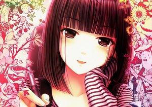 Rating: Safe Score: 176 Tags: blush brown_eyes brown_hair close flowers food original sayori short_hair User: acucar11