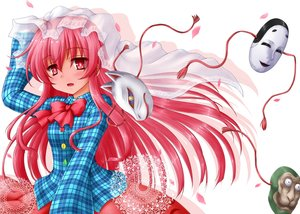 Rating: Safe Score: 61 Tags: hata_no_kokoro kotowari_(artist) long_hair mask pink_hair touhou User: Wiresetc