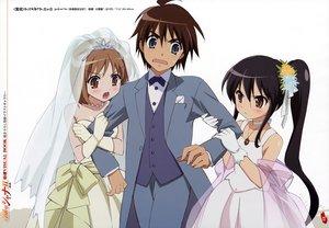 Rating: Safe Score: 14 Tags: blue_eyes brown_eyes brown_hair gloves sakai_yuuji shakugan_no_shana shana wedding wedding_attire yoshida_kazumi User: Oyashiro-sama