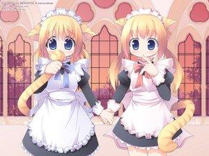Rating: Safe Score: 20 Tags: animal_ears catgirl maid tagme twinscatear User: Oyashiro-sama
