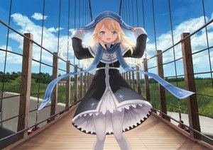 Rating: Safe Score: 21 Tags: blonde_hair blue_eyes cait clouds cross dress grass hat magi_in_wanchin_basilica pantyhose scenic sky xiao_ma User: luckyluna