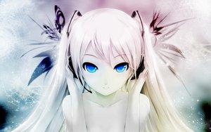 Rating: Safe Score: 833 Tags: blue_eyes cait hatsune_miku headphones photoshop polychromatic snow twintails vocaloid white_hair User: Mund