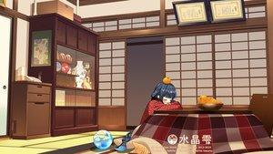 Rating: Safe Score: 33 Tags: aqua_eyes black_hair crystal_dew_world japanese_clothes kirino_kasumu kotatsu sleeping suishou_shizuku watermark User: gnarf1975