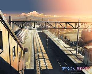 Rating: Safe Score: 96 Tags: building city clouds kumo_no_mukou_yakusoku_no_basho landscape logo nobody scenic sky sunset train tree watermark User: 秀悟