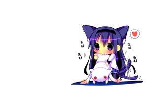 Rating: Safe Score: 73 Tags: akemi_homura animal_ears blush catgirl cat_smile chibi hina_hina kyuubee long_hair mahou_shoujo_madoka_magica purple_eyes purple_hair red_eyes tail white User: SciFi