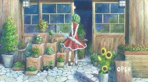 Rating: Safe Score: 86 Tags: animal dress flowers frog green_hair kazami_yuuka miso_pan scenic short_hair skirt sunflower touhou umbrella User: C4R10Z123GT