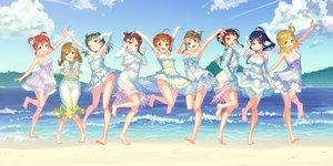 Rating: Safe Score: 83 Tags: barefoot beach blonde_hair blue_hair braids brown_hair clouds dress elbow_gloves gloves green_hair group kunikida_hanamaru kurosawa_dia kurosawa_ruby long_hair love_live!_school_idol_project love_live!_sunshine!! matsuura_kanan ohara_mari orange_hair ponytail red_hair sakurauchi_riko short_hair sky summer_dress takami_chika tomiwo tsushima_yoshiko watanabe_you water User: otaku_emmy