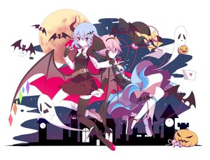 Rating: Safe Score: 54 Tags: 2girls animal bat bow breasts cape cleavage dress drink fang gloves halloween horns komeiji_satori moon pink_eyes pink_hair pumpkin red_eyes remilia_scarlet short_hair skirt tagme_(artist) thighhighs touhou vampire white_hair wings User: BattlequeenYume