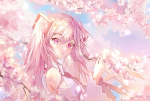 Rating: Safe Score: 48 Tags: cherry_blossoms close flowers hatsune_miku pink_eyes pink_hair qie_(25832912) sakura_miku signed tie twintails vocaloid User: BattlequeenYume