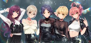 Rating: Safe Score: 100 Tags: black_eyes blonde_hair blue_eyes bow bra choker cross dress gray_hair green_eyes group hayami_kanade ichinose_shiki idolmaster idolmaster_cinderella_girls jougasaki_mika long_hair miyamoto_frederica navel necklace orange_eyes pink_hair purple_hair rainbow see_through shiomi_shouko short_hair signed skirt underwear yang-do yellow_eyes User: RyuZU