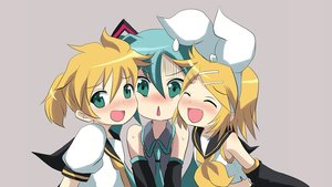 Rating: Safe Score: 100 Tags: hatsune_miku kagamine_len kagamine_rin male massala photoshop vocaloid User: RyuZU