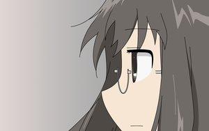 Rating: Safe Score: 8 Tags: black_eyes black_hair close glasses gradient minakami_mai nichijou vector User: RyuZU