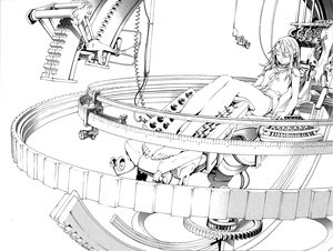 Rating: Safe Score: 66 Tags: air_gear barefoot headphones monochrome oh_great sumeragi_kururu User: PAIIS