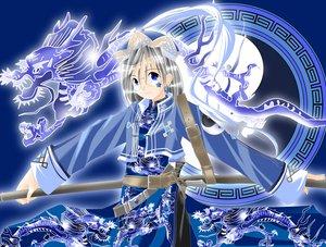 Rating: Safe Score: 21 Tags: blue_eyes chinese_clothes chinese_dress dragon glasses original weapon User: Oyashiro-sama