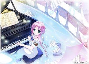 Rating: Safe Score: 112 Tags: aria instrument jpeg_artifacts kaho_okashii mizunashi_akari piano User: FormX