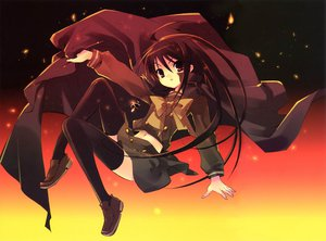 Rating: Safe Score: 21 Tags: itou_noiji necklace red scan seifuku shakugan_no_shana shana thighhighs User: Xtea