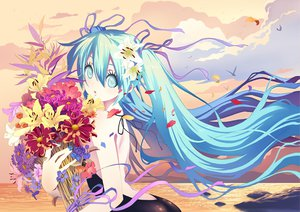 Rating: Safe Score: 122 Tags: beach blue_eyes blue_hair diamond_dust flowers hatsune_miku long_hair vocaloid User: FormX