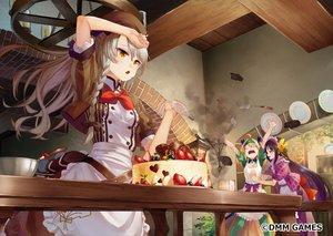 Rating: Safe Score: 73 Tags: anthropomorphism apron braids cake flower_knight_girl food fruit komugi_(flower_knight_girl) saraki strawberry tagme_(character) waifu2x User: BattlequeenYume