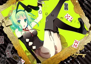Rating: Safe Score: 77 Tags: animal_ears bunny_ears bunnygirl chain elbow_gloves gloves green_eyes green_hair gumi ribbons shackles temari_(deae) thighhighs vocaloid User: opai