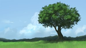 Rating: Safe Score: 42 Tags: clouds grass landscape mclelun original scenic sky tree watermark User: RyuZU