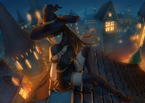 Rating: Safe Score: 98 Tags: breasts brown_hair building cape city gloves green_eyes halloween hat idolmaster idolmaster_cinderella_girls jay_zhang long_hair night scenic shibuya_rin thighhighs witch witch_hat User: RyuZU