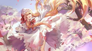 Rating: Safe Score: 31 Tags: blonde_hair blush bow dress elise_(piclic) fairy hat lily_white long_hair signed touhou tree wings User: RyuZU