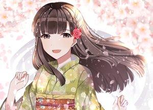 Rating: Safe Score: 10 Tags: braids brown_eyes brown_hair close idolmaster idolmaster_cinderella_girls japanese_clothes kimono kobayakawa_sae long_hair tagme_(artist) User: luckyluna