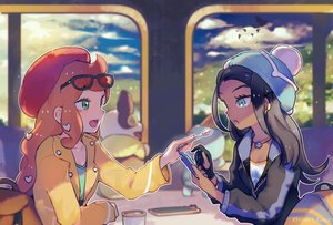 Rating: Safe Score: 34 Tags: 2girls chewtle food hat inaeda_kei phone pokemon rurina_(pokemon) sonia_(pokemon) watermark yamper User: FormX