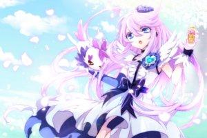 Rating: Safe Score: 40 Tags: blue_eyes chiyo_(rotsurechiriha) clouds elbow_gloves gloves heartcatch_precure! long_hair petals precure purple_hair sky stars tsukikage_yuri User: luckyluna