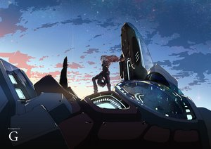 Rating: Safe Score: 88 Tags: aida_reihanton bodysuit clouds c_otom gundam_reconguista_in_g long_hair mecha mobile_suit_gundam pink_hair sky User: Flandre93