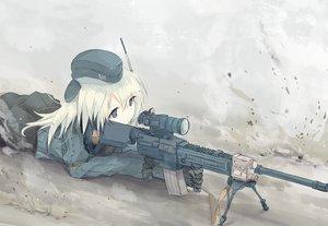 Rating: Safe Score: 19 Tags: gun hat kantai_collection nao_(qqqbb) u-511_(kancolle) uniform weapon white_hair User: Flandre93