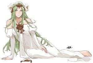 Rating: Safe Score: 23 Tags: barefoot fire_emblem green_eyes green_hair headdress long_hair necklace polychromatic rhea_(fire_emblem) sakuuremi signed sketch white User: otaku_emmy
