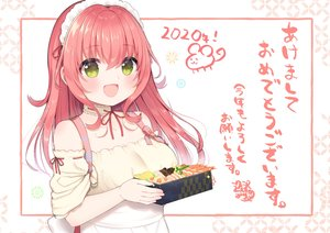 Rating: Safe Score: 38 Tags: aizawa85 apron blush food green_eyes headdress long_hair original pink_hair translation_request User: RyuZU