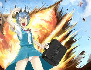 Rating: Safe Score: 27 Tags: 2girls ayanami_rei blue_hair bodysuit drawfag neon_genesis_evangelion panties seifuku short_hair skirt sky soryu_asuka_langley underwear User: PAIIS