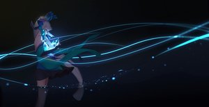 Rating: Safe Score: 220 Tags: aoandon aqua_eyes dark elbow_gloves gloves headdress long_hair magic maredoro onmyouji water white_hair User: gnarf1975