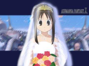 Rating: Safe Score: 27 Tags: azumanga_daioh cosplay final_fantasy final_fantasy_x kasuga_ayumu parody wedding wedding_attire User: Oyashiro-sama