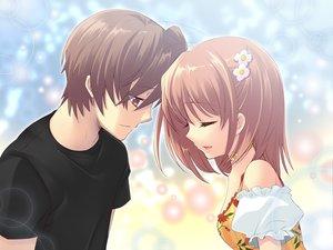 Rating: Safe Score: 71 Tags: brown_hair flyable_heart game_cg inaba_yui itou_noiji katsuragi_syo short_hair User: Tensa