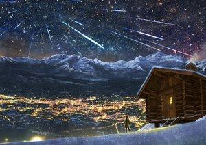 Rating: Safe Score: 100 Tags: building city kupe landscape night original scenic sky snow stars winter User: RyuZU