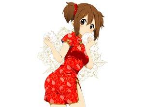 Rating: Safe Score: 134 Tags: brown_eyes brown_hair chinese_clothes food hirasawa_yui k-on! ragho_no_erika white User: C4R10Z123GT