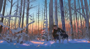 Rating: Safe Score: 25 Tags: animal dog original snatti snow tree winter User: Flandre93